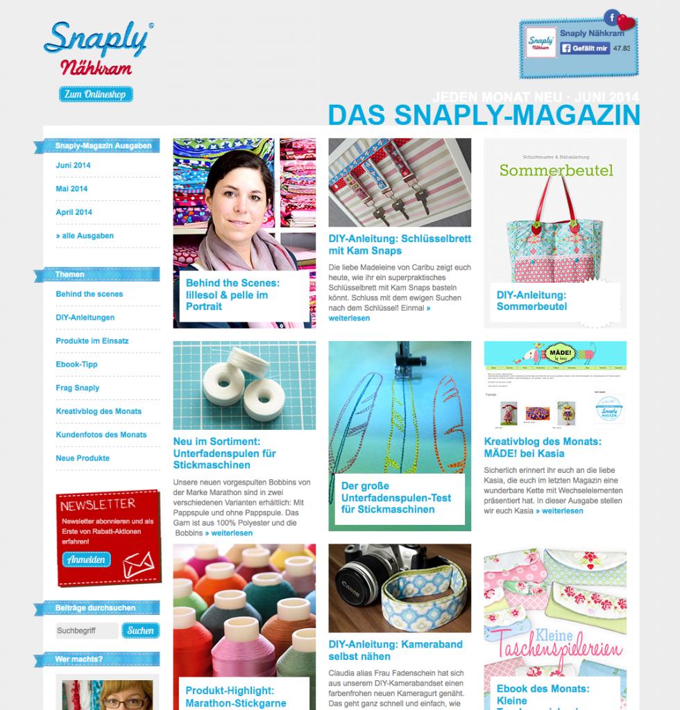 Snaply Magazin Kameraband Frau Fadenschein