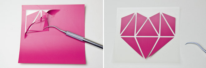 Plotter-Freebie Origami-Herz