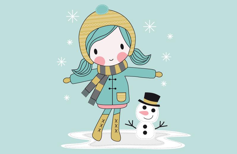 """Applikationsvorlage """"Mimi und der erste Schnee"""""""