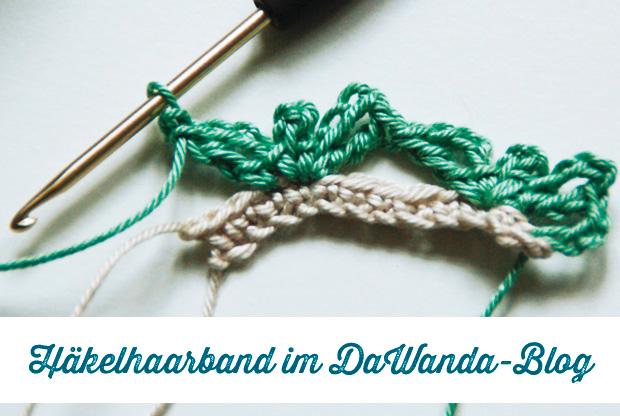 Häkeln mit Frau Fadenschein: Häkelhaarband mit Herzmuster im DaWanda ...