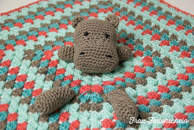 Geschenk Zur Geburt Hippo Schnuffeltuch Frau Fadenschein