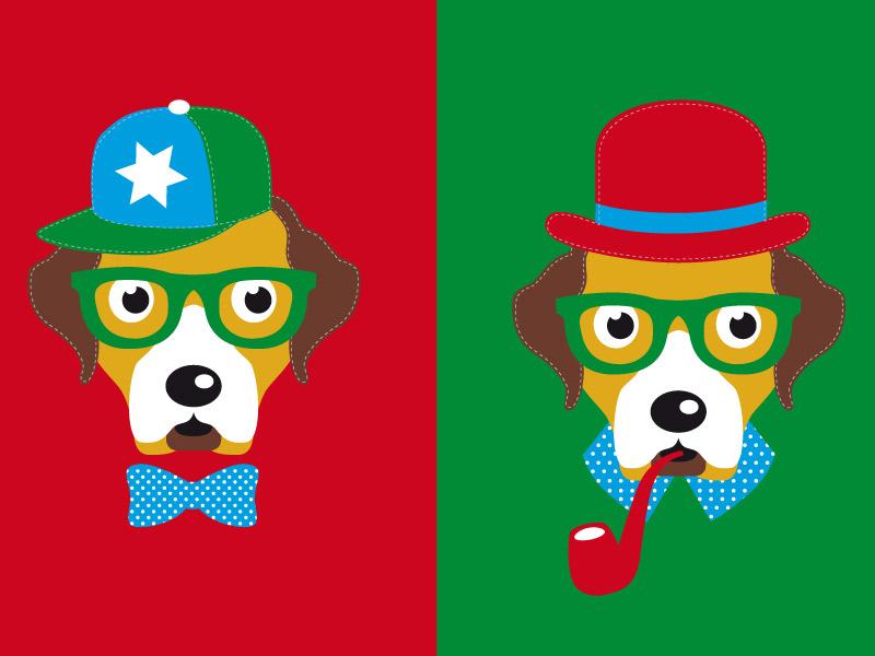 "Applikationsvorlage ""Hipster Hund Theo"""