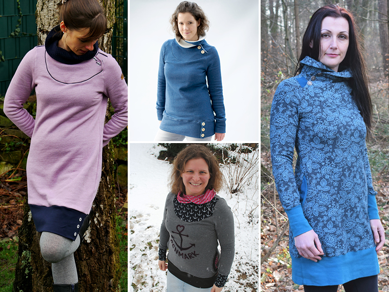 low priced ba5dd bd6f6 Neues Schnittmuster: Sweatpullover & -kleid Lotte ist online ...