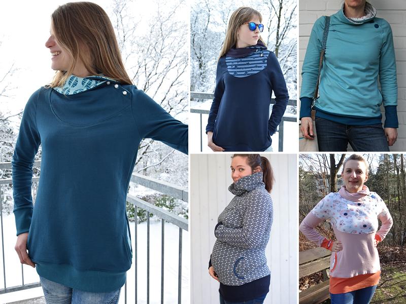 Neues Schnittmuster: Sweatpullover & -kleid Lotte ist online