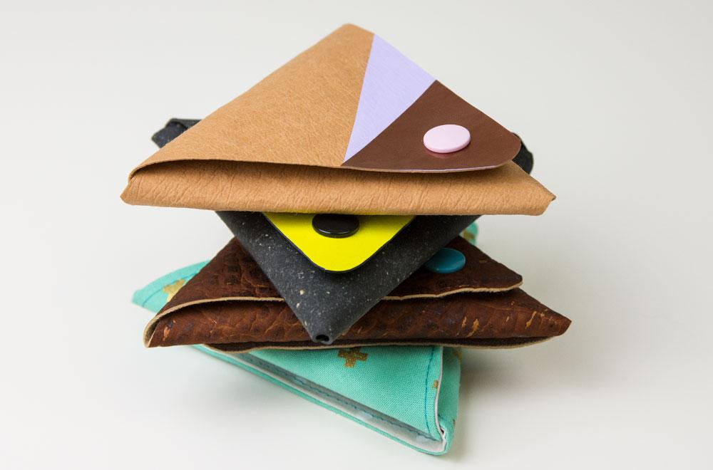 Kostenloses Schnittmuster: Mini-Geldbörse Kimi (ohne Nähen)