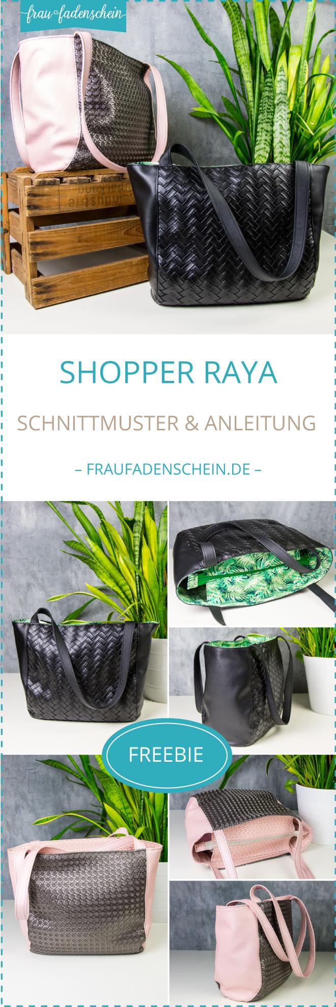 {Werbung} Kostenloses Schnittmuster: Shopper Raya