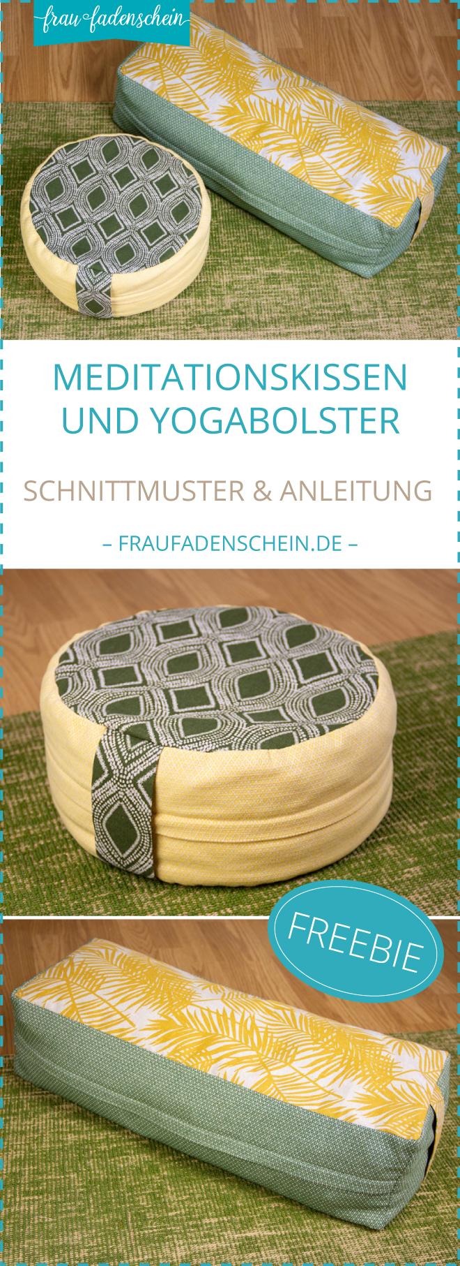 {Werbung} Kostenloses Schnittmuster: Meditationskissen und Yogabolster