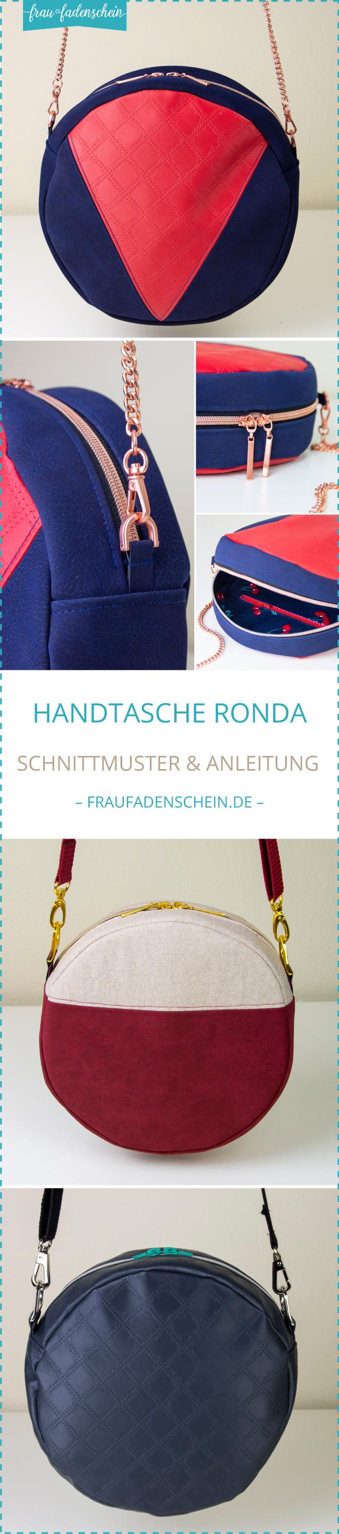 Schnittmuster & Nähanleitung: Handtasche Ronda