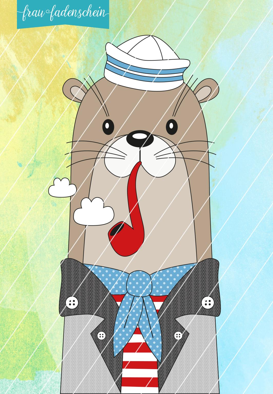 Appliziervorlage Arthur Otter