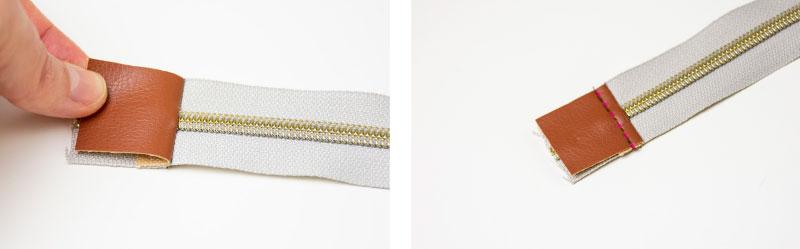 Basis-Anleitung: Reißverschlussenden mit Stoff oder Kunstleder einfassen