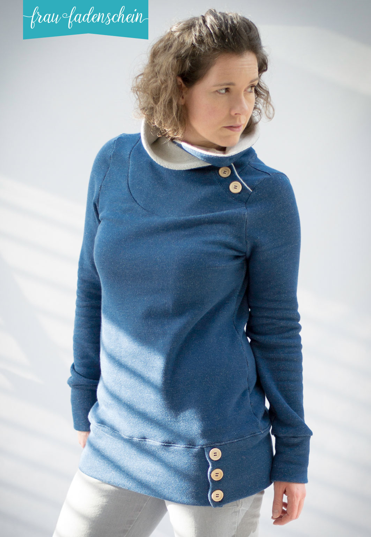 Schnittmuster Sweatpullover Kleid Lotte