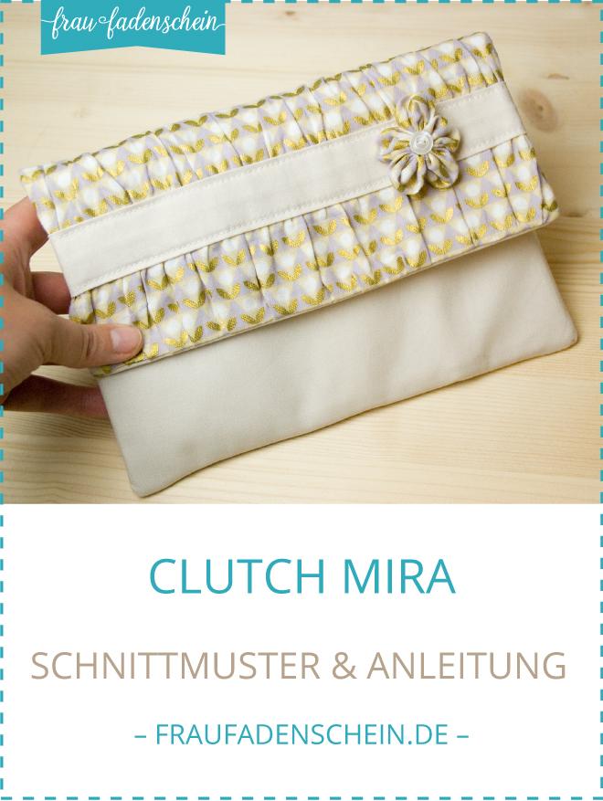 Schnittmuster Clutch Mira