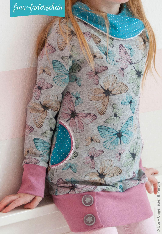 Schnittmuster Sweatpullover und -kleid Lottchen Kinder