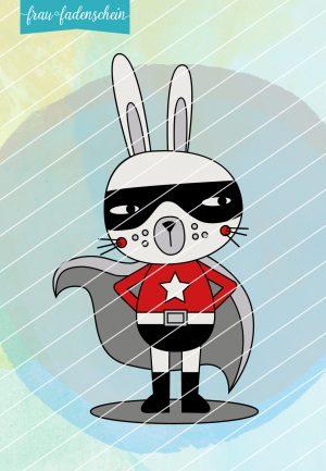 Plotterdatei Hansi Hase Superhero