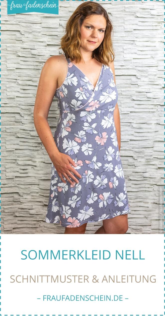 Schnittmuster Sommerkleid Nell Frau Fadenschein