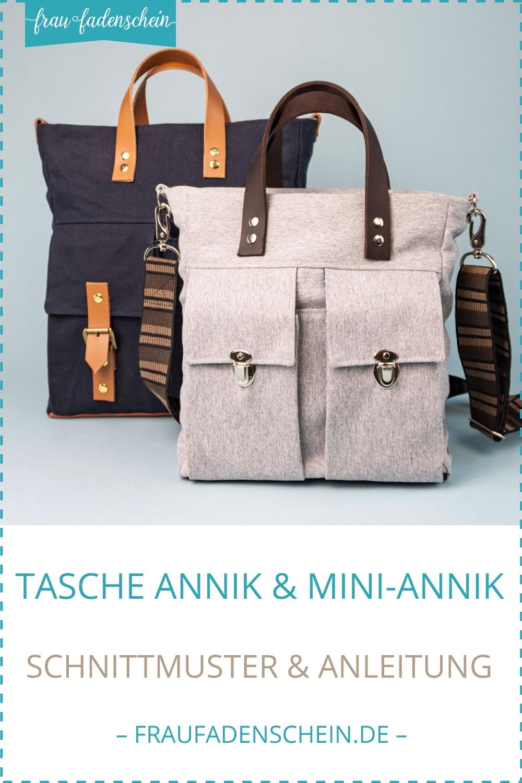 Schnittmuster Tasche Annik & Mini-Annik – Frau Fadenschein