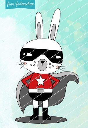 Applikationsvorlage Hansi Hase - Superhero