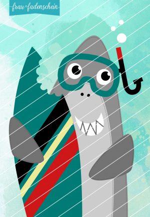 Applikationsvorlage Kai der kleine Hai
