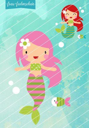 Applikationsvorlage Undine die kleine Meerjungfrau