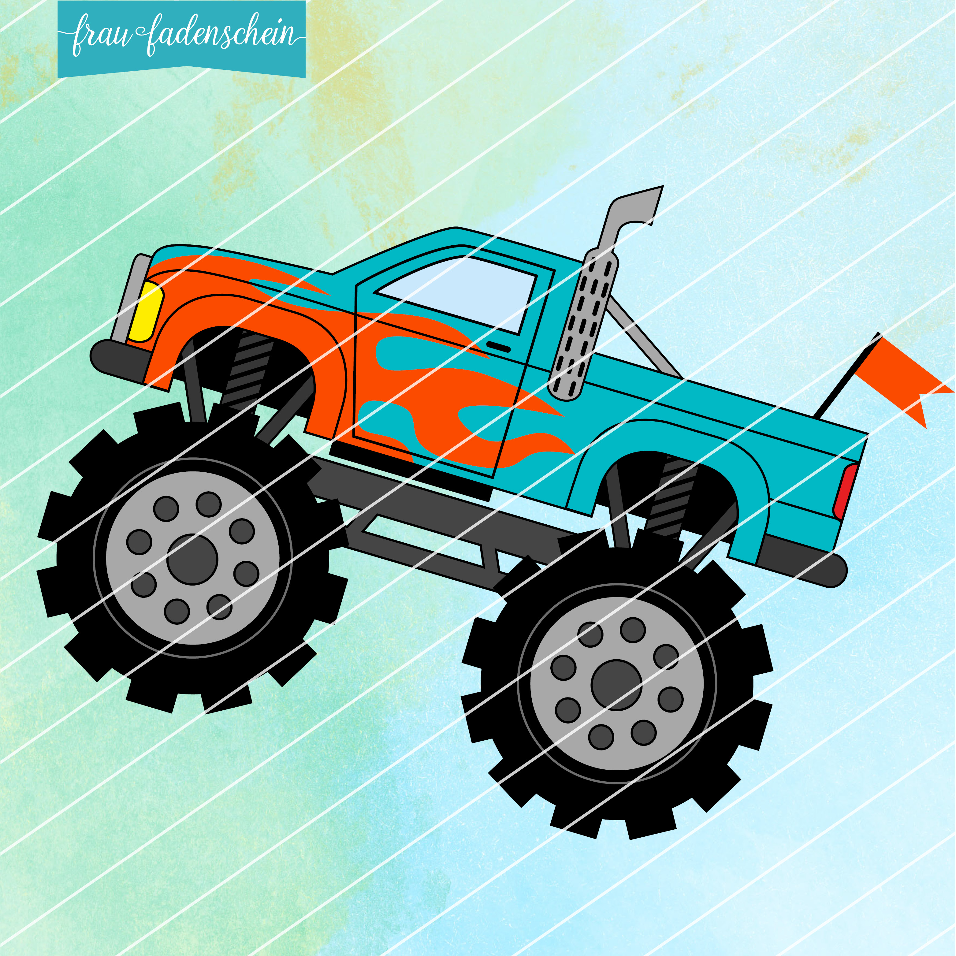 Applikationsvorlage Monster-Truck
