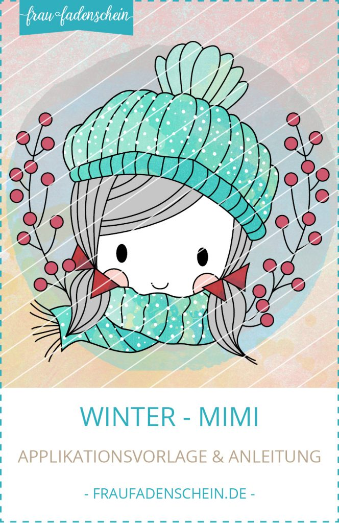 Applikationsvorlage Winter-Mimi