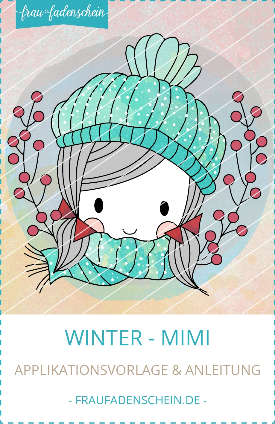 Applikationsvorlage Winter-Mimi