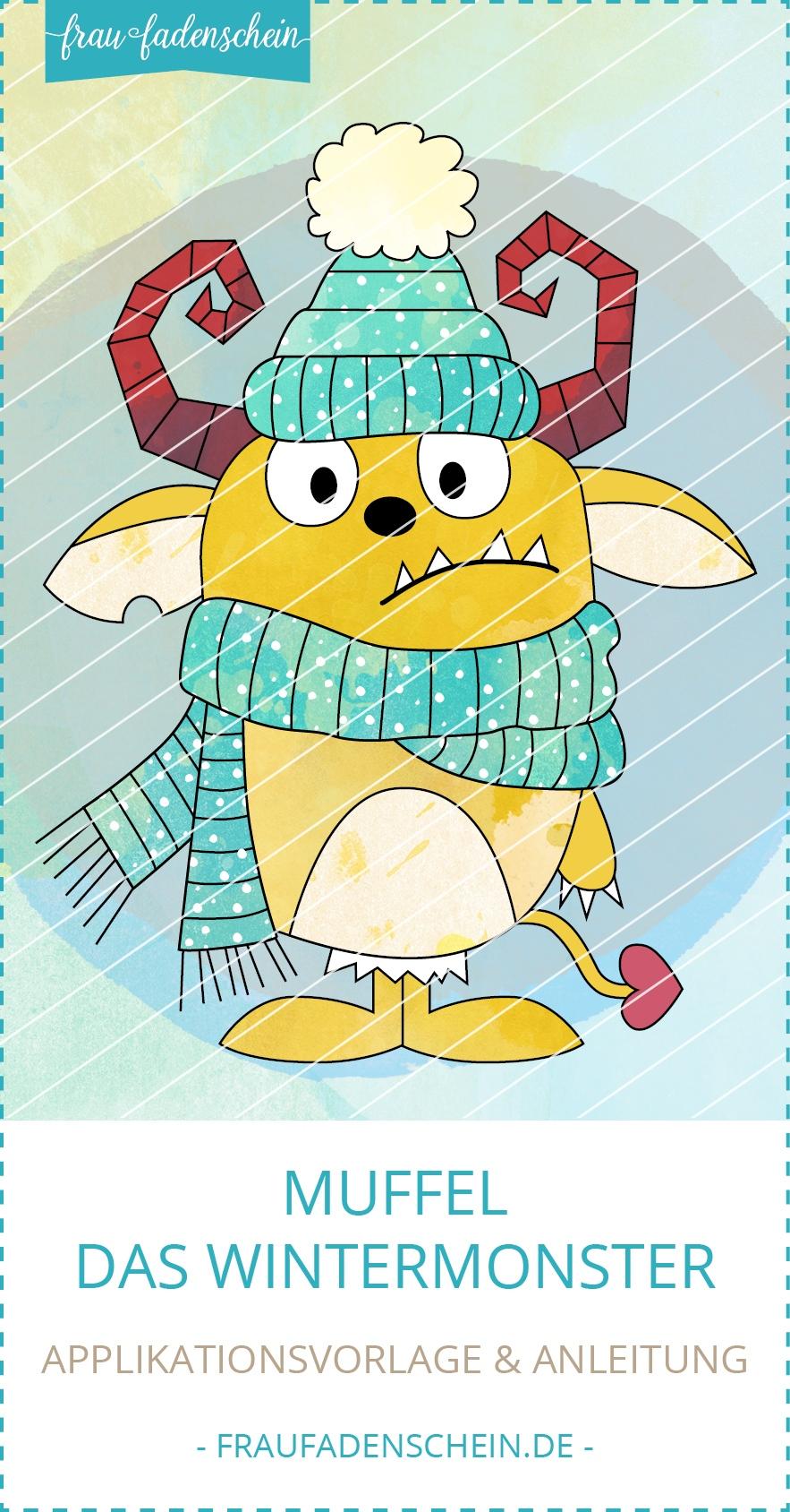 Applikationsvorlage Muffel - das Wintermonster