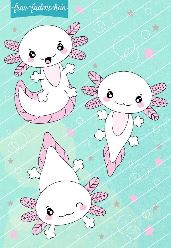 Plotterdatei Lotti Axolotl