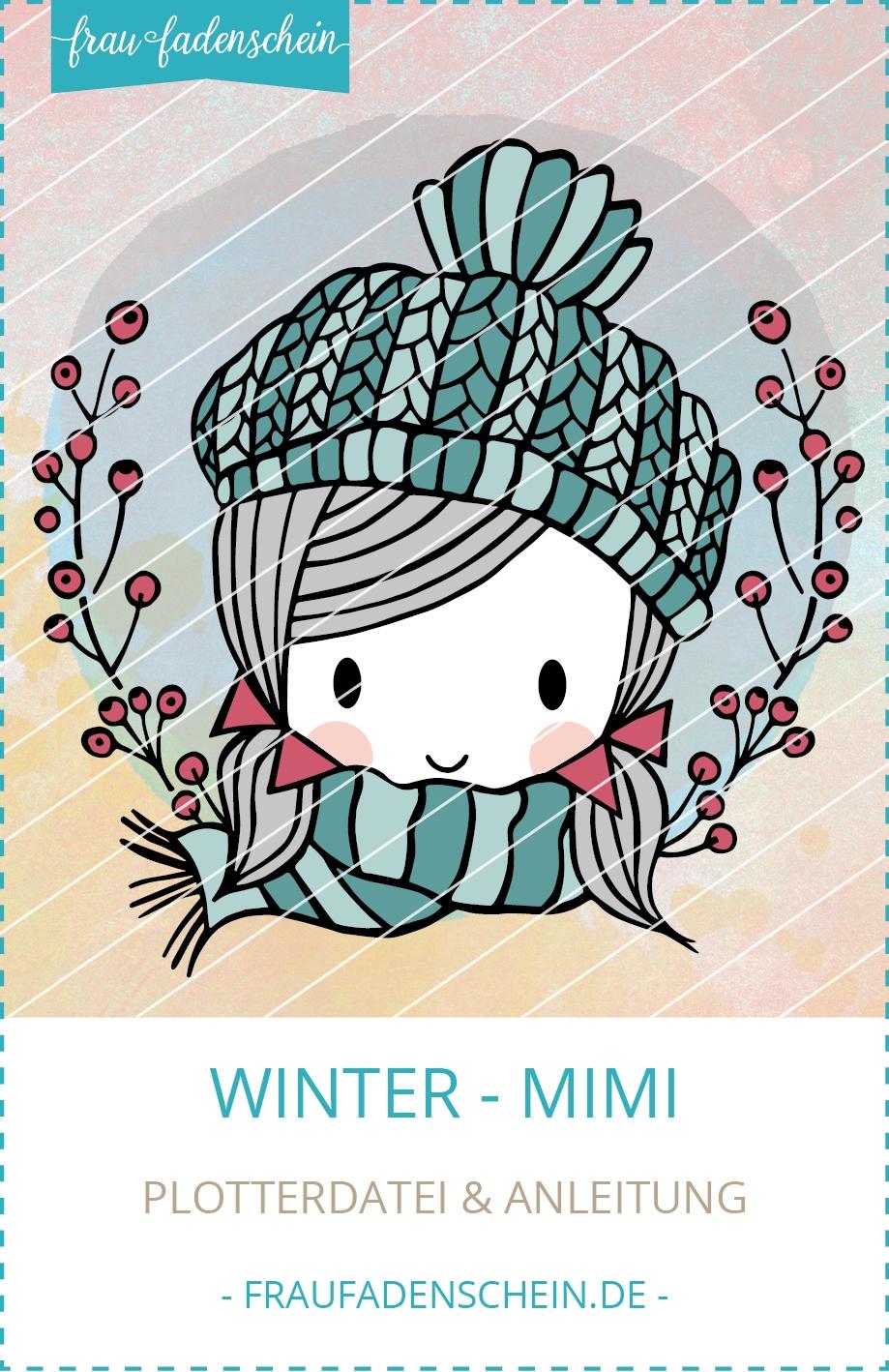Plotterdatei Winter-Mimi