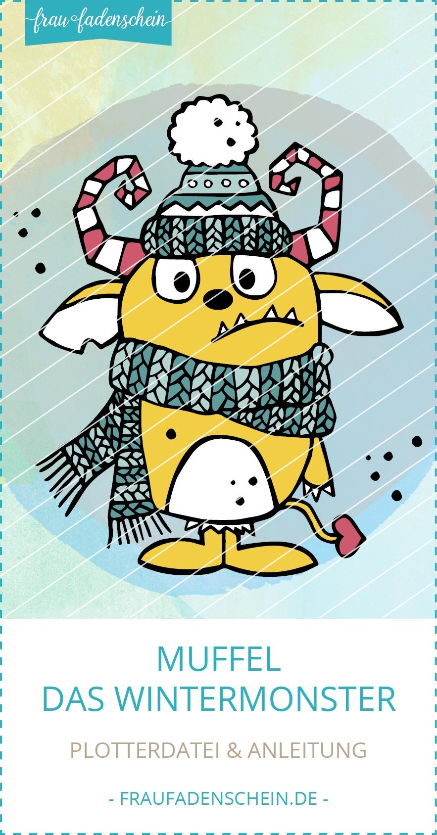 Plotterdatei Muffel - das Wintermonster