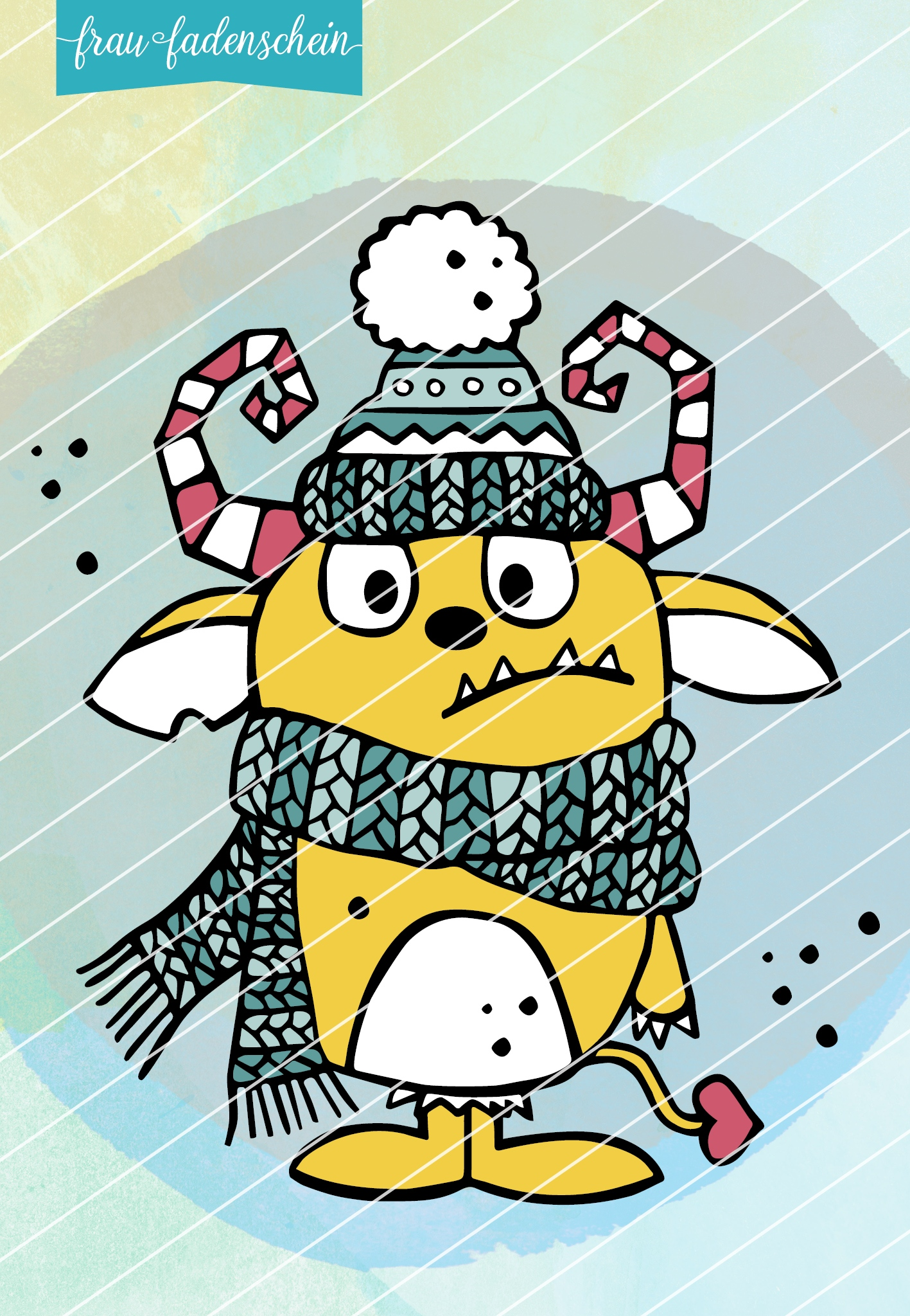 Plotterdatei Muffel – das Wintermonster